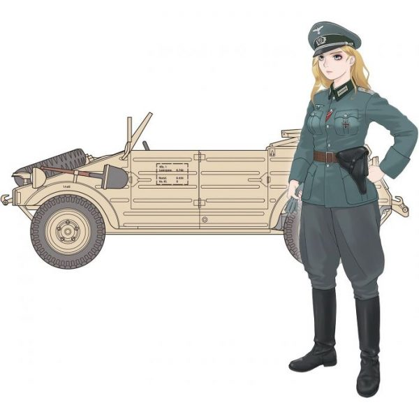 1/35 Rekiso Otome: Laura w/Kubelwagen Type 82