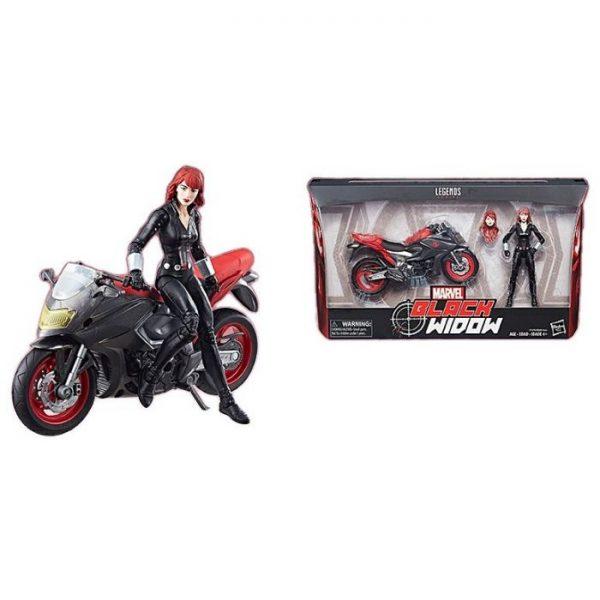 Marvel - Hasbro Action Figure: 6 Inch: Legends - Black Widow & Motorcycle