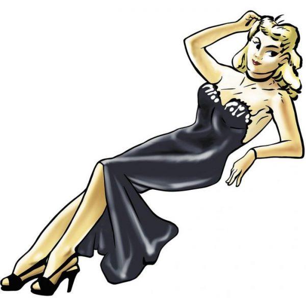 1/20 Nose Art Girl Figure Blondie
