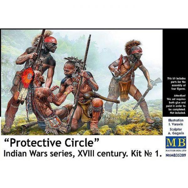 1/35 Protective Circle. Indian Wars Series, XVIII Century. Kit No.1
