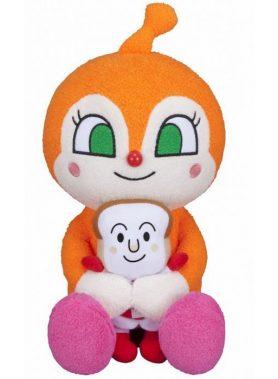 Anpanman Favorite Hugging Plush Toy Dokin-chan and Shokupanman