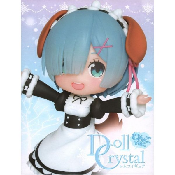 Re:Zero - Starting Life in Another World: Doll Crystal Rem Figure -Wanko Ver.-