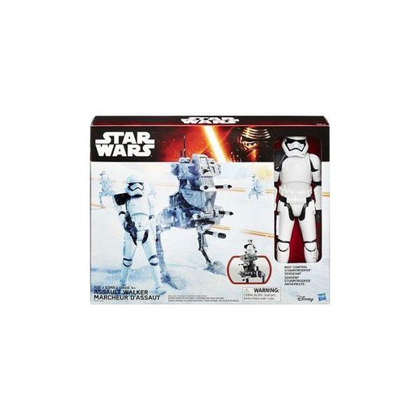 Star Wars The Force Awakens 12 Inch Figure & Vehicle Riot Control Stormtrooper & Assault Walker