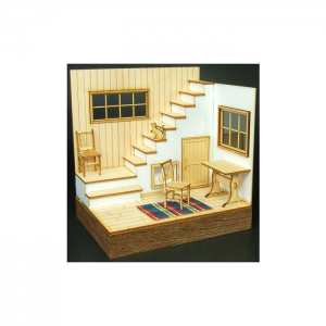 1/24 Living Room  with Stairs