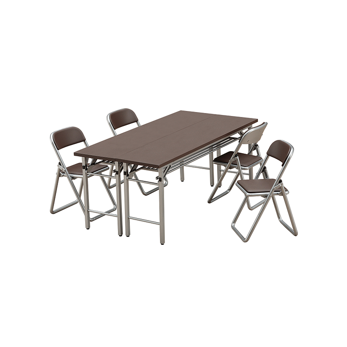 1/12 Meeting Room Desk & Chairs