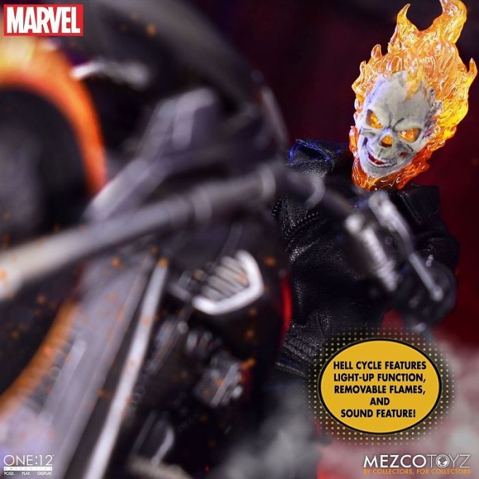 1/12 One 12 Collective Marvel Comics: Ghost Rider with Hell Cycle Action Figure Set